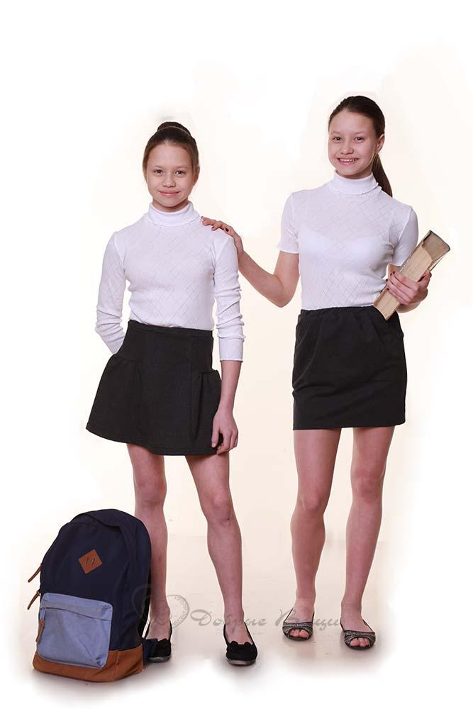 Водолазка для девочки «Ажур» школьная