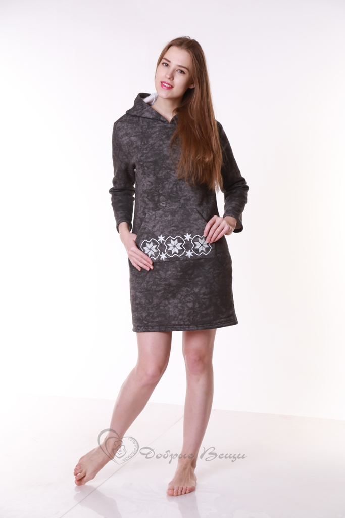 Платье женское домашнее утепленное «Nebo»